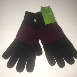 Kate Spade New York ColorBlock Glove Midnight Wine